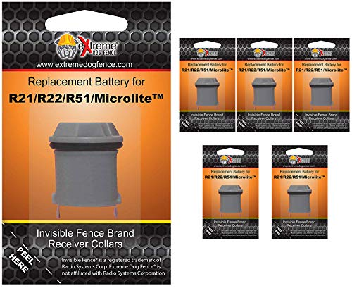(Extreme Dog Fence Invisible Fence Brand Compatible Batteries Brand - 6 Pack)