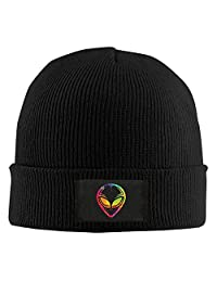 Runningway Mars Alien Colorful Head Tribal Knit Winter Beanie Hat Skull Cap Unisex