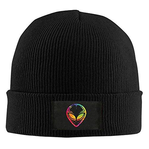 Runningway Mars Alien Colorful Head Tribal Knit Winter Beanie Hat Skull Cap Unisex - Hat Life Quiet