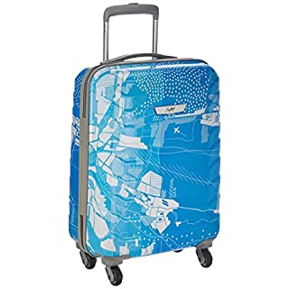 51kDuuy7foL. SS320 Skybags Trooper 55 Cms Polycarbonate Blue Hardsided Cabin Luggage