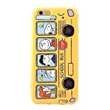 Rubber Case for iPhone 6 plus, Dakotacase - Cute Snoopy Pattern Skin Case Slim Fit Soft TPU Gel Rubber Protector Back Case Cover For iPhone 6 plus 5.5 inch (Yellow Bus)