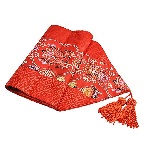 ZQ STORE Brocade table flag,Fabric modern home table flag-J 33x200cm(13x79inch) (9081 Satin)