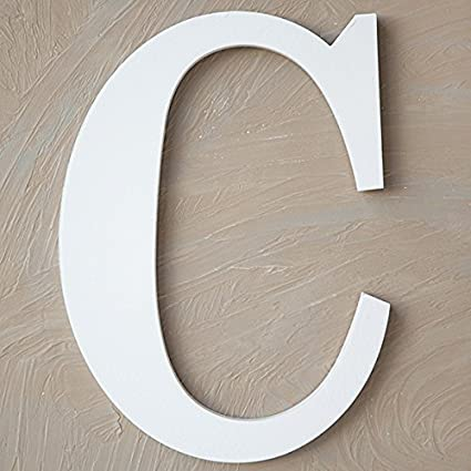 White Wall Letter, The Lucky Clover Trading LBL14TW-W W Wood Block 14 L