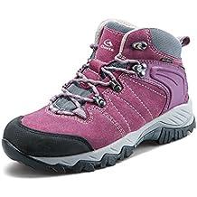 Clorts Women's Hiker Leather GTX Waterproof Hiking Boot Outdoor Backpacking Shoe HKM822