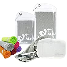 Cooling Towel for Instant Relief - Cooling Neck Wrap Fabric Bandana Headband, Mesh Cold Ice Towel, Keep Cool for Running Biking Hiking Golf & All Other Sports, 3 Sizes and Multiple Fun Colors