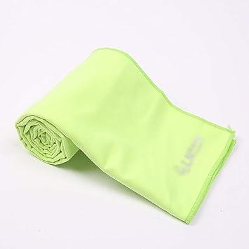 JESSIEKERVIN YY3 Absorción de Sudor Toalla Deportiva Microfibra Toalla de Yoga Fresca con Sentido frío y Paquete de Funda de Silicona (Color : Green): ...