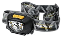 de.power LED headlamp DP-801AAA-C, cool wh. spot light 181 lm (ANSI), 140 wide angle warm white ambient light, dimmable, 3xAAA LR03