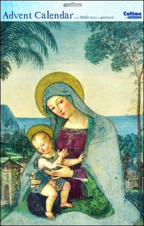 Calendario Religioso.Caltime Calendario Religioso Dell Avvento Con Madonna E
