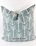 Cool Gray & White Arrow Pillow cover. Sham cover. throw Pillow cover. Select size.