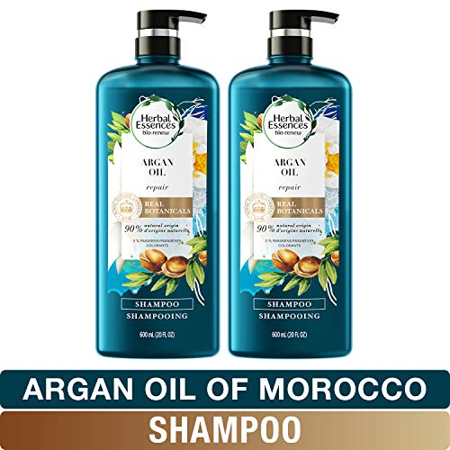 - Herbal Essences, Shampoo, BioRenew Argan Oil of Morocco, Safe for Color Treated Hair, 20.2 fl oz, Twin Pack