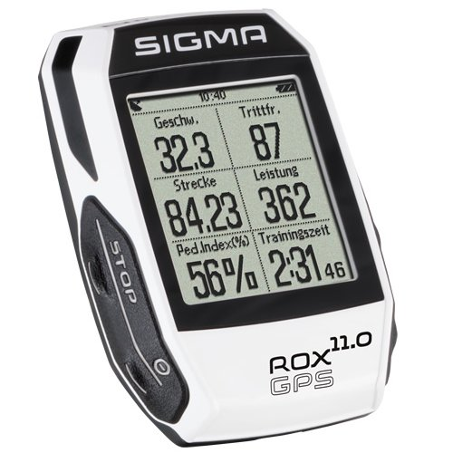 Sigma Sport Rox Gps 11.0   Cyclocomputer One Size Adult Rox Gps 11.0 Only Size White by Sigma