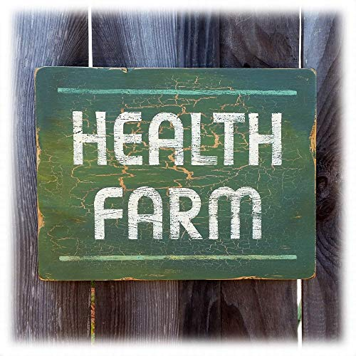 Health Farm Sign vintage style spa sign by Chuck Peterson Designs