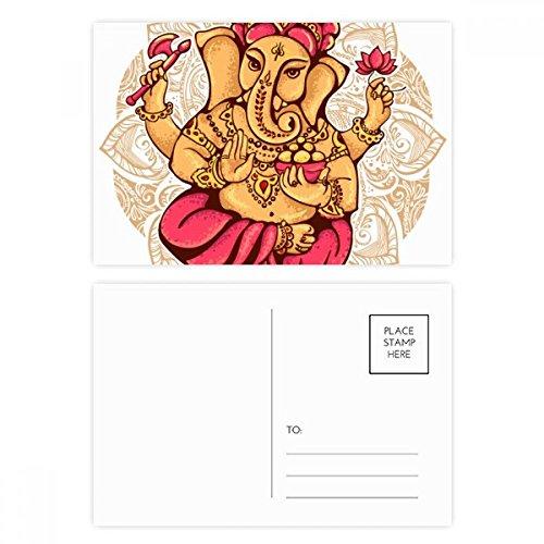 Buddhism Religion Buddhist Elephant Lotus Postcard Set Birthday Thanks Card Mailing Side 20pcs