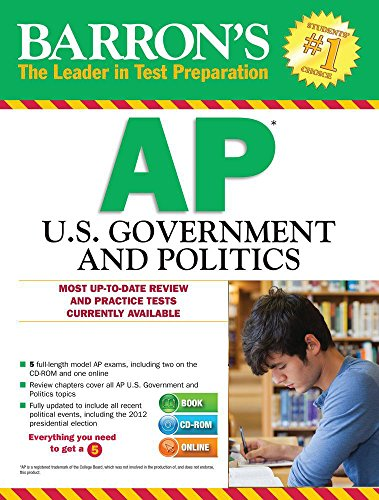 Barron's AP U.S. Government and Politics With CD-ROM, 9th Edition (Barron's AP United States Government & Politics (W/CD))