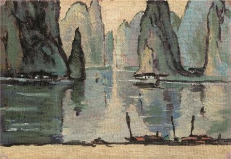 'Tu Ke,Ferry In The Lijiang River,20th Century' Oil Painting, 12x17 Inch / 30x44 Cm ,printed On Perfect Effect Canvas ,this High Resolution Art Decorative Prints On Canvas Is Perfectly Suitalbe For Nursery Gallery Art And Home Artwork And Gifts