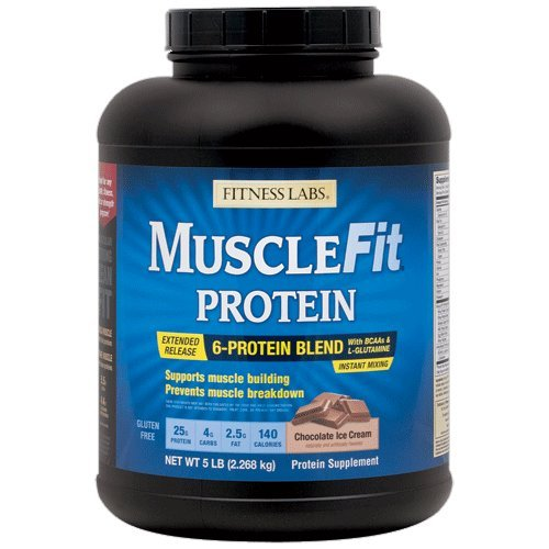 Fitness Labs MuscleFit Protein Blend (5 Pound, Chocolate Ice Cream) Fitness Health Lab