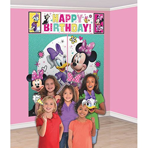 Amscan Scene Setters with Props | Disney Minnie Mouse Happy Helpers Collection | Party Accessory]()
