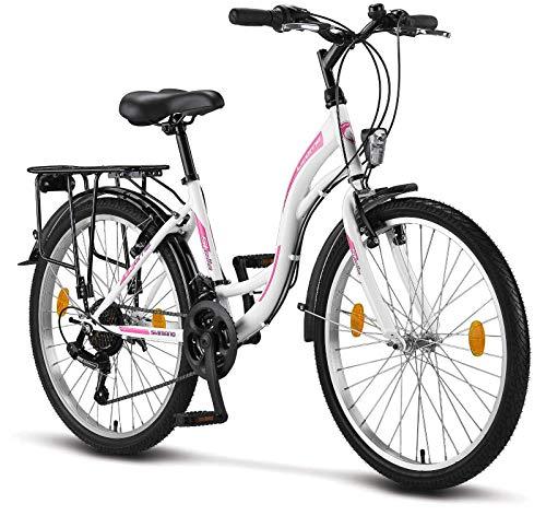 Licorne Bike Stella Premium City Bike in 24,26 en 28 inch – fiets voor meisjes, jongens, heren en dames – 21…