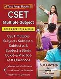#2: CSET Multiple Subject Test Prep 2018 & 2019: CSET Multiple Subjects Subtest 1, Subtest 2, & Subtest 3 Study Guide & Practice Test Questions