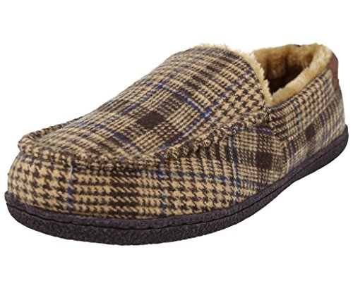 Finto Brown A Joe Dark In Mocassino Camoscio Jo Pantofole Tweed Uomo Eleganti Fodera amp; Da Pile qZW6p48