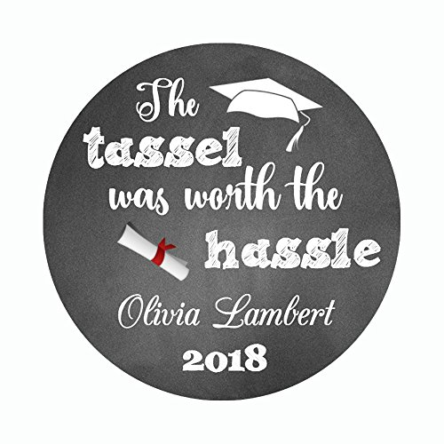 40 Personalized Graduation Envelope Seals - Class of 2018 Party Favor Label Sticker - Customized Graduation Party (Graduation Sticker Seals)