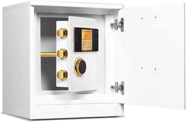 セーフティボックス 家庭用電子パスワード安全なベッドサイド電子ロックのセキュリティステルス多階層型ストレージ (Color : White, Size : 45x40x51cm)