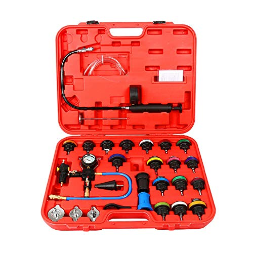 A ABIGAIL Universal Radiator Pressure Tester and Vacuum Type Cooling System Kit 28 pcs