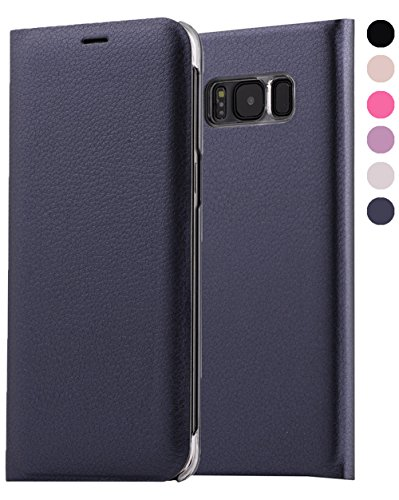 Price comparison product image Galaxy S8 Plus Wallet Case,  GreenElec [Drop Protection] [Shock Absorbing] [ID Card / Cash Slot] Premium Quality Wallet Case Flip Cover for Galaxy S8+ (Blue)