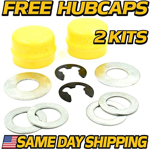 (HD Switch (2 Kits Front Wheel Axle Hardware Replaces John Deere AM121915 GY00011 M143338 GX21931 - Free Hub Caps )