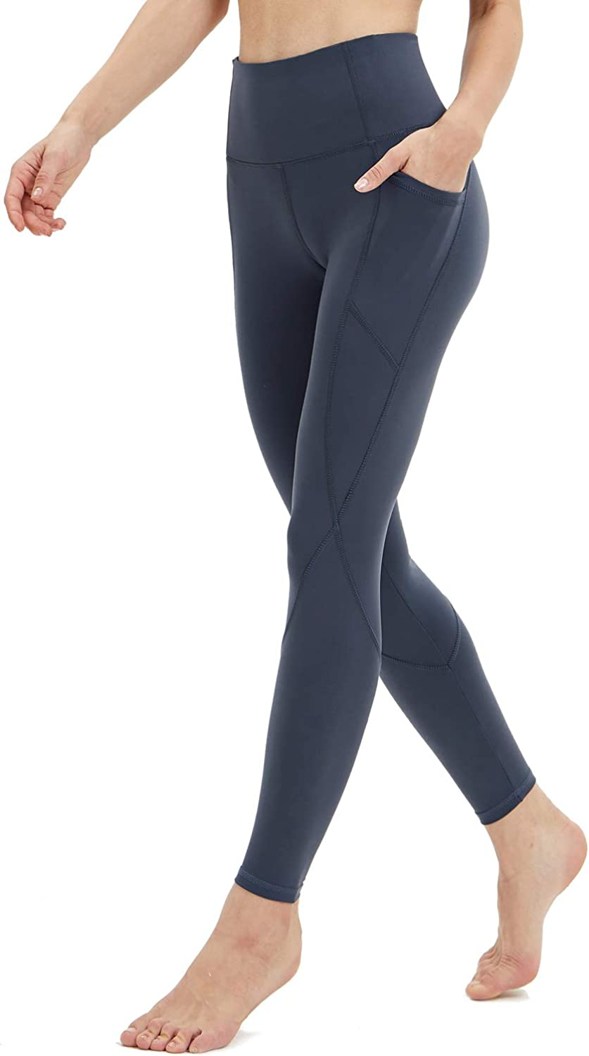Persit Women's Premium Yoga Pants with Pockets, Non See-Through Tummy Control 4 Way Stretch High Waist Leggings: Clothing