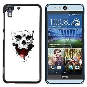 Jordan Colourful Shop - Skull Blood For HTC Desire EYE M910x Personalizado negro cubierta de la caja de pl????stico