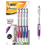 BIC Velocity Side Clic Mechanical Pencil, Medium Point (0.7mm), 4-Count