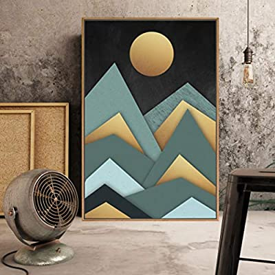Framed Home Artwork Abstract Scenery for Living Room Bedroom, Premium Creation, Dazzling Technique