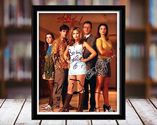 Buffy The Vampire Slayer Autograph Replica Print - Cast - 8x10 Desktop Framed Print - Portrait