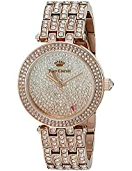 Juicy Couture Womens 1901377 Cali Analog Display Japanese Quartz Rose Gold-Tone Watch