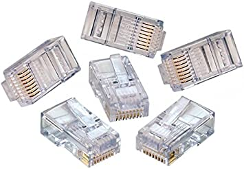 Youanshanghang LIN Network Cable 1000 PCS High-Performance RJ45 Connector Modular Plug,RJ45 8Pins Network Cable Heads//Plugs
