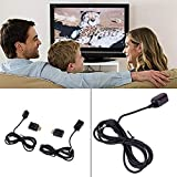 WOSOSYEYO IR Extender Over HDMI Remote Control Adapters Receiver Transmitter Cable Kit(Color:Black)