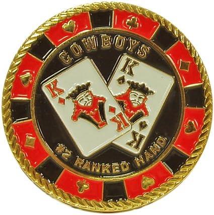 Trademark Cowboys コインカードカバー ポーカーボタン (ブラック/レッド)