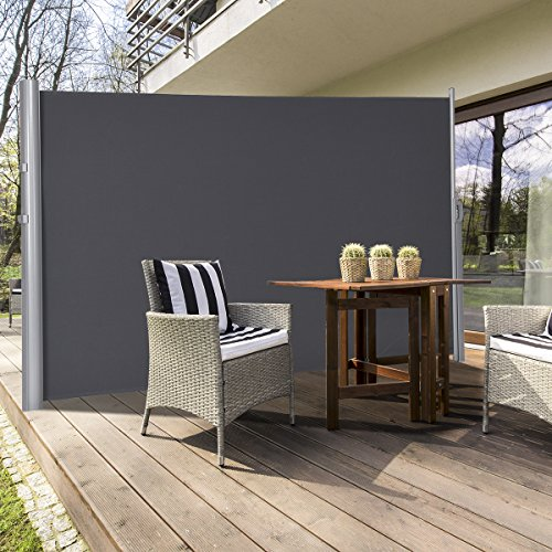 TANGKULA Outdoor Patio Retractable Folding Side Screen ...