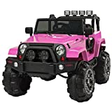 Eight24hours 12V Ride On Car Truck Remote Control 3 Speed LED Light Pink