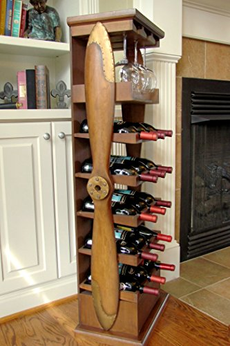 Large Wood Airplane Propeller Wine Rack