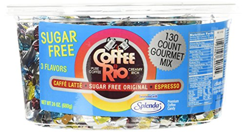 Coffee Rio Sugar Free Gourmet Candy Mix 24oz. Tub (Coffee Rio Sugar)