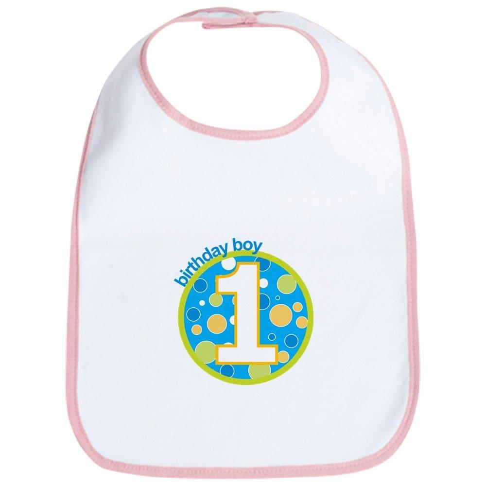 CafePress first birthday boy t-shirts Bib Cloth Baby Bib