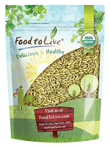 Organic Rye Berries by Food to Live (Whole Wheat Grain, Non-GMO, Kosher, Raw, Bulk Seeds, Product of the USA) — 3 - Rye Berries