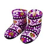 Respctful ♪☆ Women Slipper Sock Coral Velvet Indoor Spring-Autumn Soft Warm Lined Booties Slippers