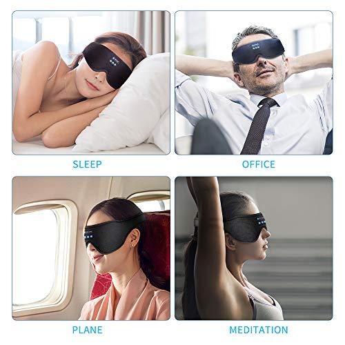 Sleep Headphones Bluetooth Eye Mask, TOPLANET Sleeping Headphoens With Timer Wireless 3D Sleep Mask, Music Play Sleeping Headphones with Built-in HD Speaker Perfect for Side Sleepers Insomnia Airplane