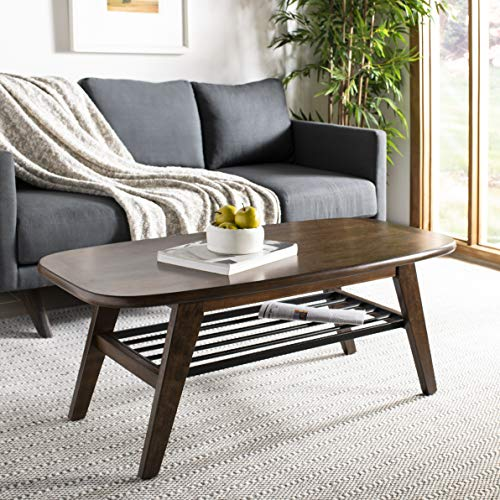 Safavieh COF6400A Home Collection Oren Dark Walnut 2 Tier Coffee Table,