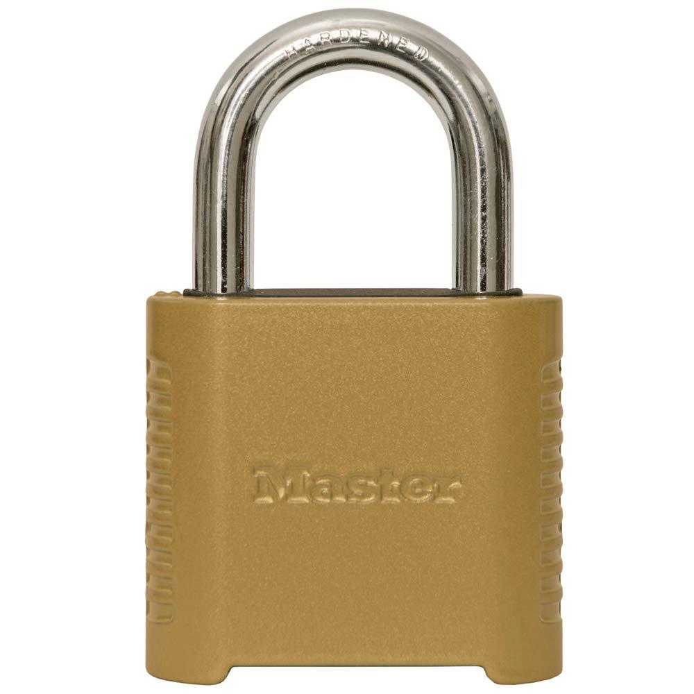 Master Lock 875D Heavy Duty Outdoor Combination Lock 2 in. Wide Brass Finish by Master Lock
