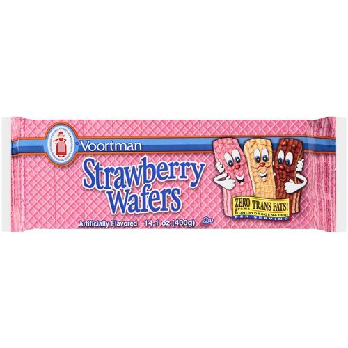 Voortman, Strawberry Wafers, 14.1oz Bag (Pack of 4)