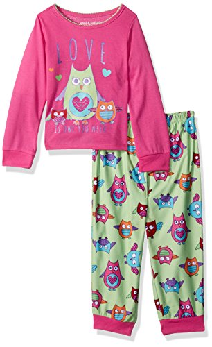 Peas & Carrots Girls Toddler Soft Knit Flannel Pajama Set